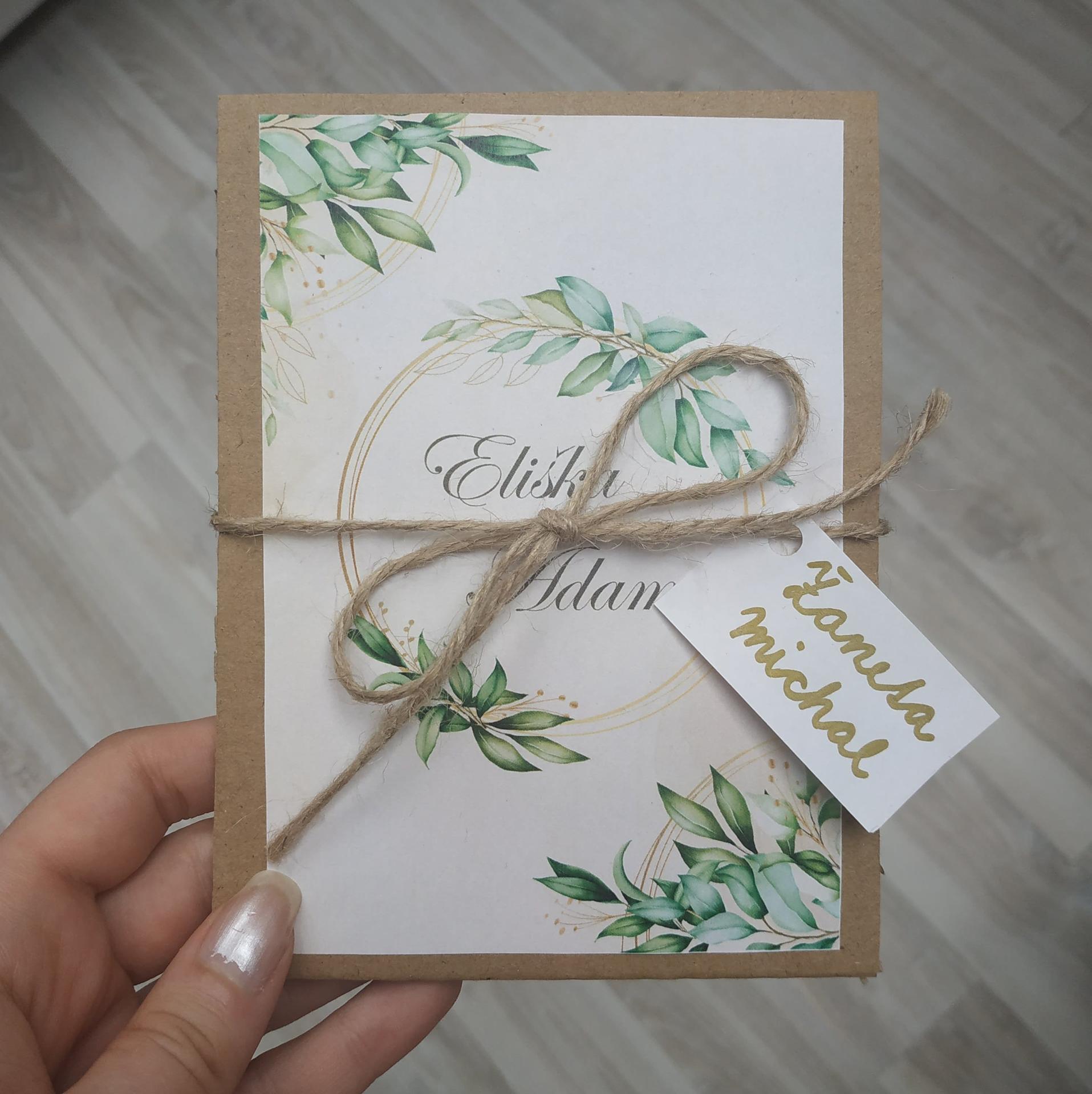 Svatební oznámení - Ukázka hotového :-)