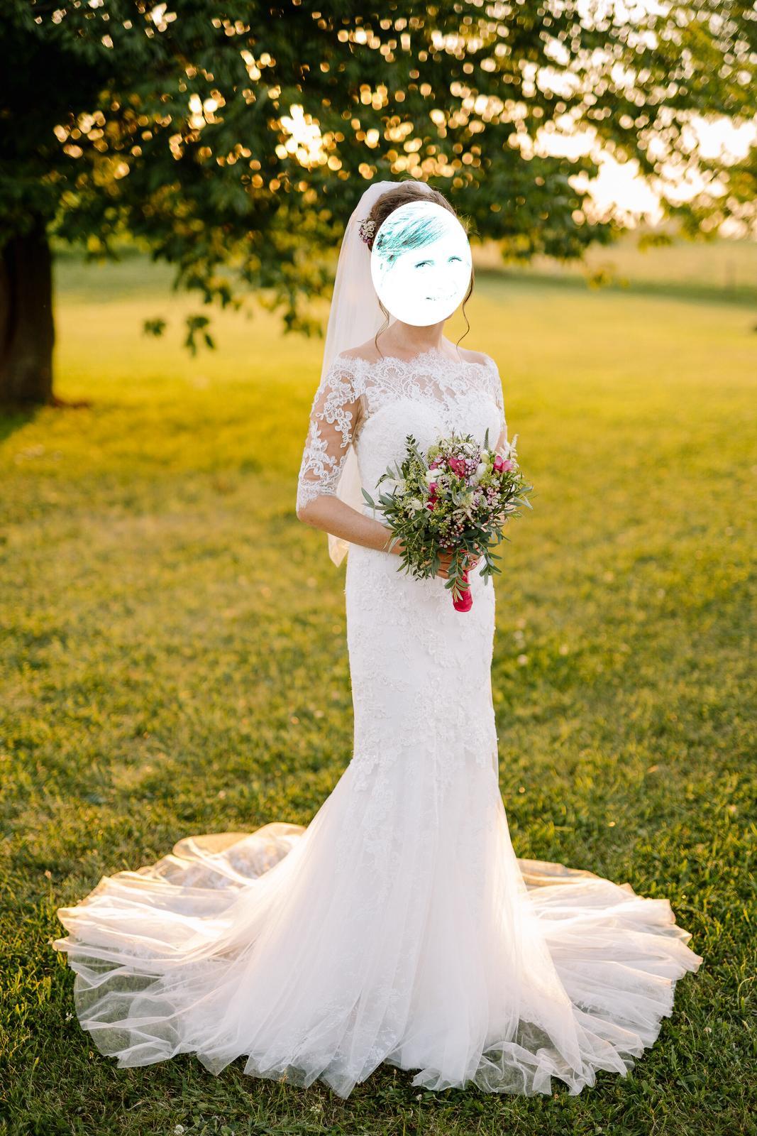 Luxusní svatební šaty 34-36 - Obrázek č. 1