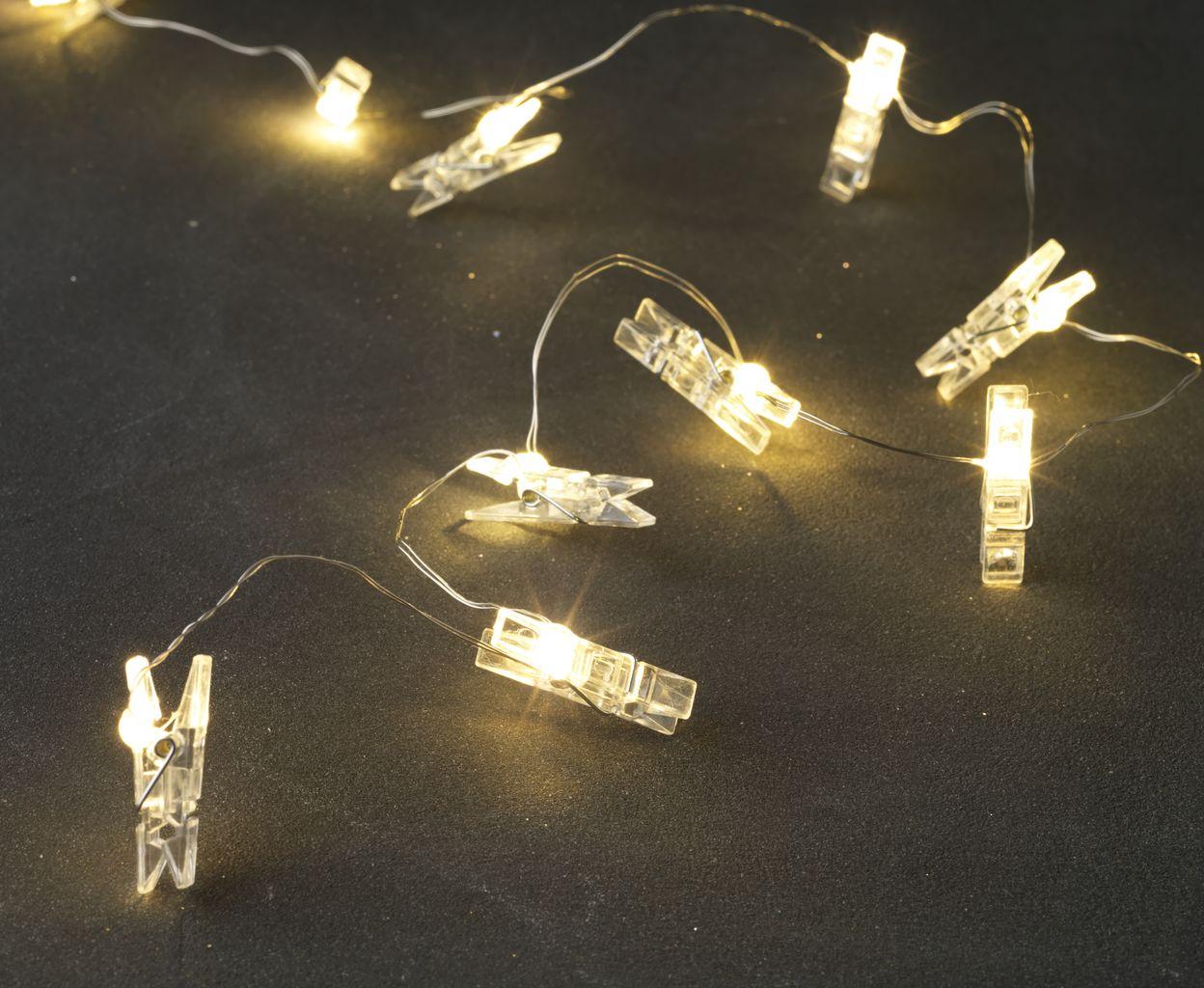 Světelný řetěz ve tvaru kolíčků - na fotky - Obrázek č. 1