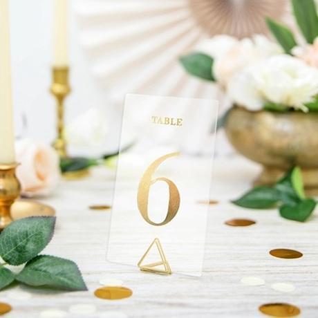 Čísla na stoly a stojánky - Obrázek č. 1