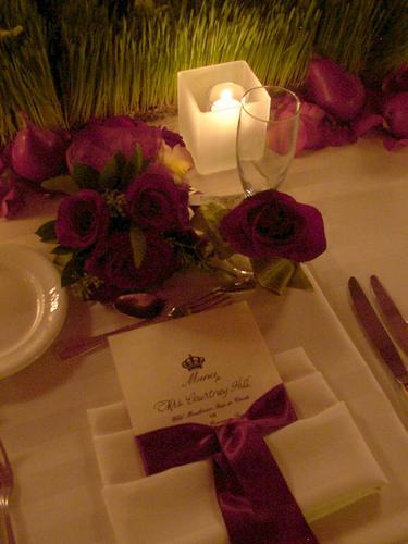 Moja fialova svadba - menu pre každeho by som zmenila na menu na stole