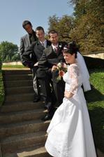 s manželem a švagry
