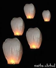 lampióny na večer...už máme doma (bílé a žluté) :)