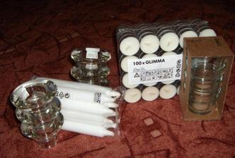 svíčky na svatební tabuli