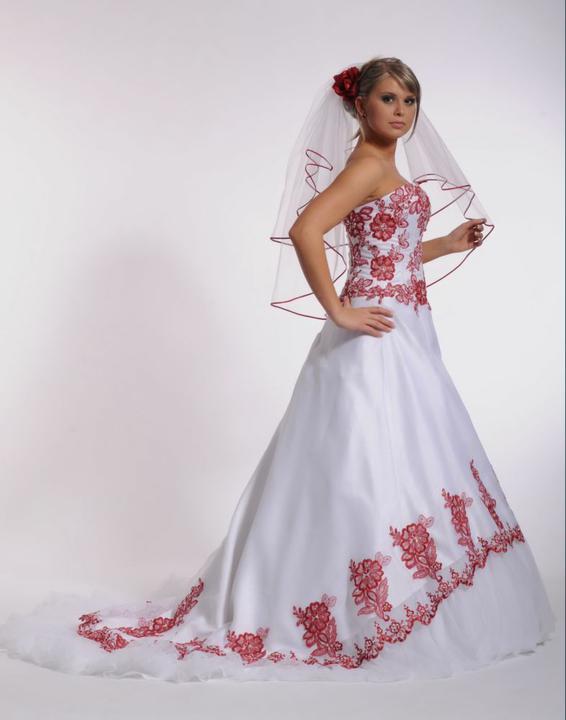 Svatební šaty - růžové i červené až do bordó - Obrázek č. 25