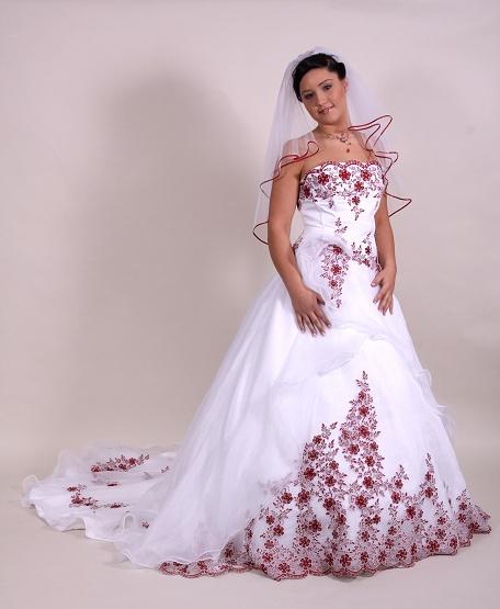 Svatební šaty - růžové i červené až do bordó - Obrázek č. 30