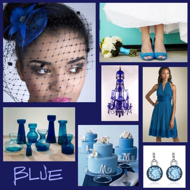 Co bolo, je,... a bude (na svadbe) - Tak sme vybrali farbu... kráľovská modrá s bielou.