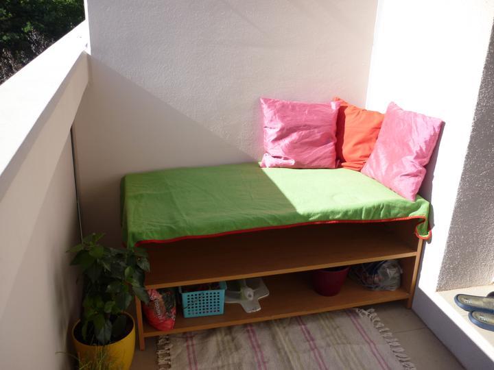 Přestavba bytu - A leháro koutek na balkoně :-)