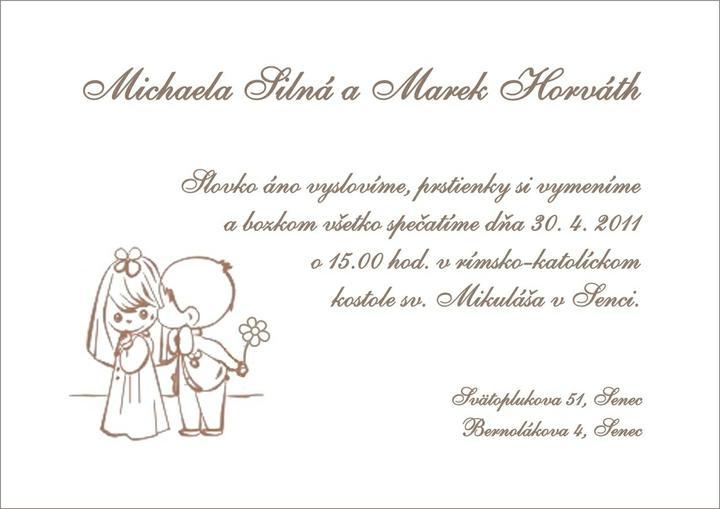 Prípravy Miška a Marek 30.4.11 - Naše oznámenia:-) Naživo krajšie, nakoľko sú tlačené na špeciálny papier