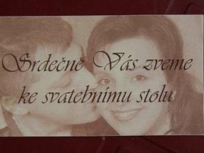 kartička pozvání k hostině