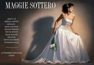 Maggie Sottero-první favoritní šaty vcelku, z velmi zvláštního materiálu