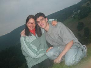 ja a brouček o dovolené v Krkonoších :o)