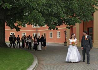 čekání před obřadem