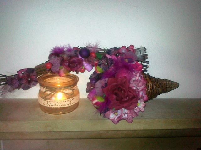 Jarne a Velkonocne dekoracie - aranzma na krb a stol k 50siatke :-)))