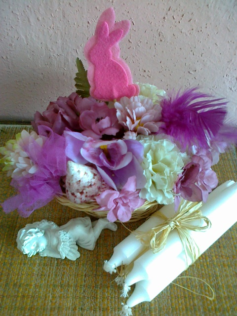 Jarne a Velkonocne dekoracie - aj troska ružovo-fialkovej :-)))