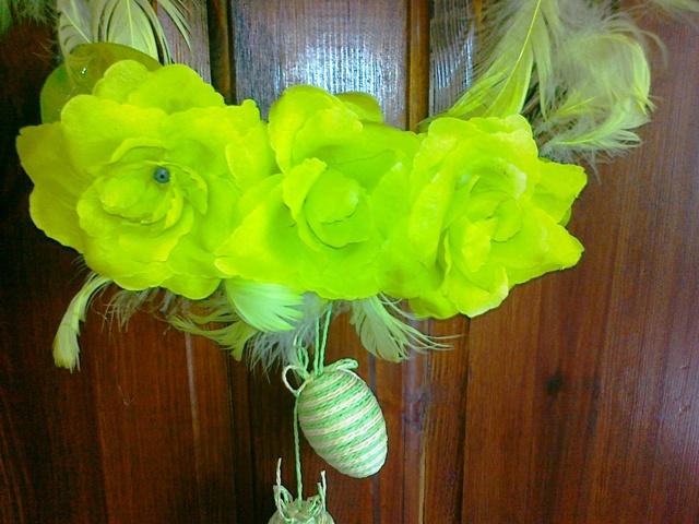 Jarne a Velkonocne dekoracie - suseda si vybrala zeleny,pasuje jej do kuchyne