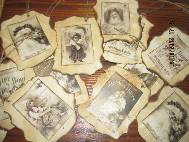 Vianocne inspiracie - Vintage visacky na Vianocne darceky:-)
