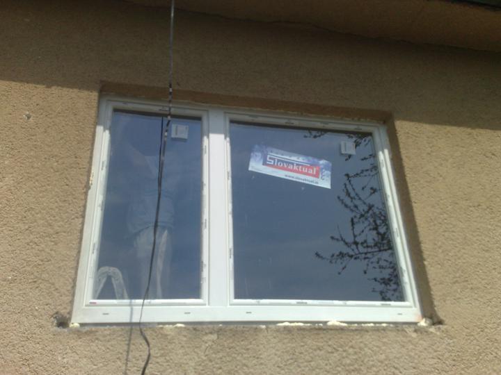 Na zaciatku prestavby - nove okna
