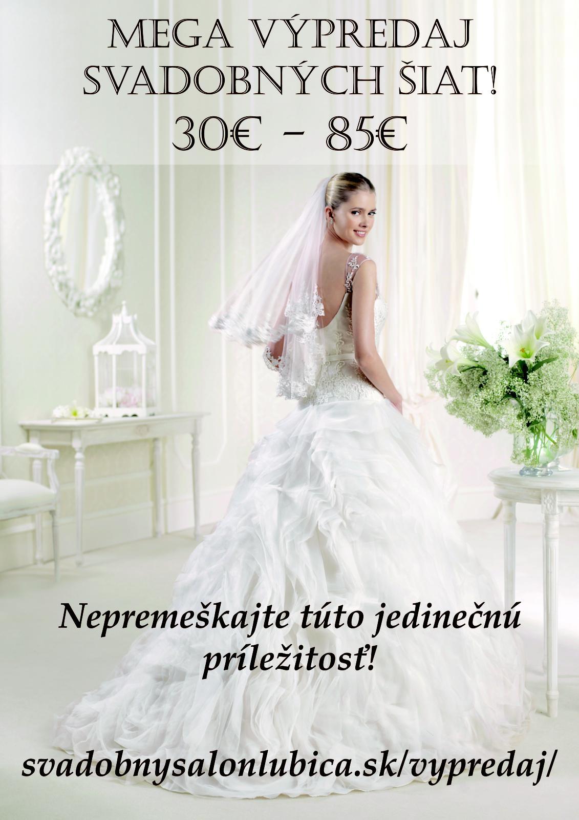 Mega výpredaj svadobných šiat - www.svadobnysalonlubica.sk/vypredaj/
