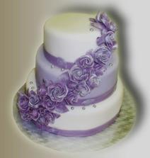 takuto sme si vybrali svadobnu tortičku len bude bielo-cyklamenova a na vrchu budu snubenci :)