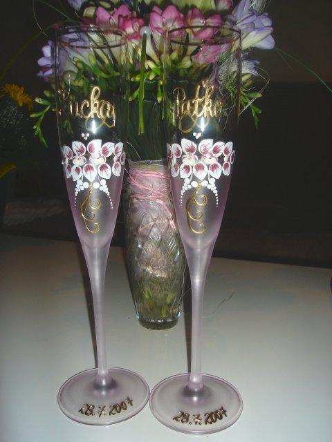 Lucka{{_AND_}}Paťko - naše poháre s kyticou