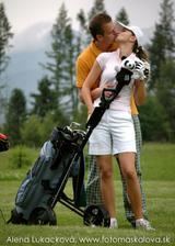 Predsvadobné fotenie v na golfovom ihrisku v Tatrách.