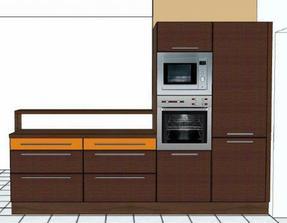 nad nízkými skříňkami bude volný prostor - pokračuje zde obývací místnost