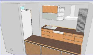 moje pokusy v ikea plánovači.. opět barev si nevšímejte.. nevim, jestli ta horní skřínka až na linku může být vedle varné desky (plynové)