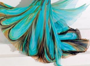 inspirace pro barvy do loznice - saty od Blanky Matragi