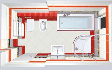 navrh koupelny v patre - vesele a hrave :-)