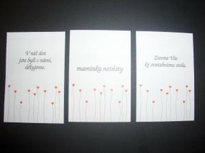 vzorek jmenovek, dekovacek a zvacich karticek