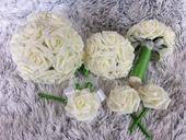 Svatební set z růží,
