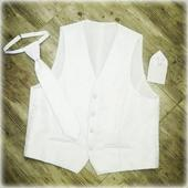 Svadobna vesta, kravata, vreckovka , 56