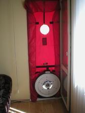 Blower door test 4 izbového bytu.