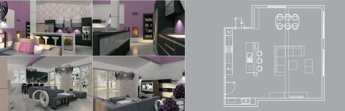 finálna verzia obývačko-kuchyne