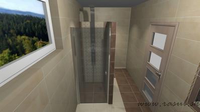 v sprchovacom bude podomietková batéria samozrejme.. inak nemá dekor význam