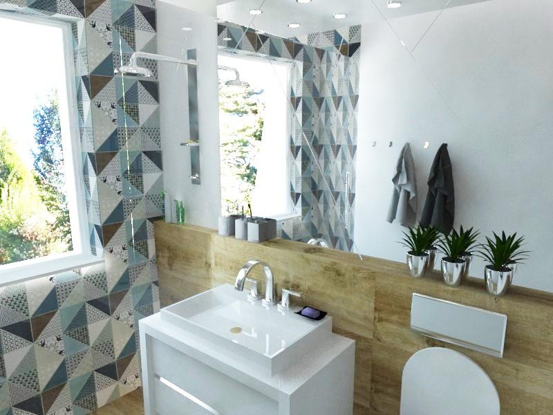 Kúpeľne- vizualizácie - Návrh detskej kúpeľne v RD - rozmery 1,70 x 2,8 m