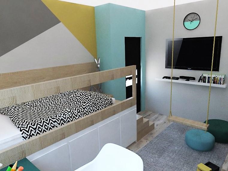 Detské a študentské izby- vizualizácie - Obrázok č. 119