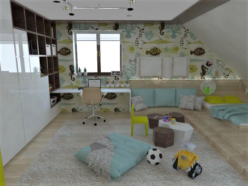 Detské a študentské izby- vizualizácie - Obrázok č. 128