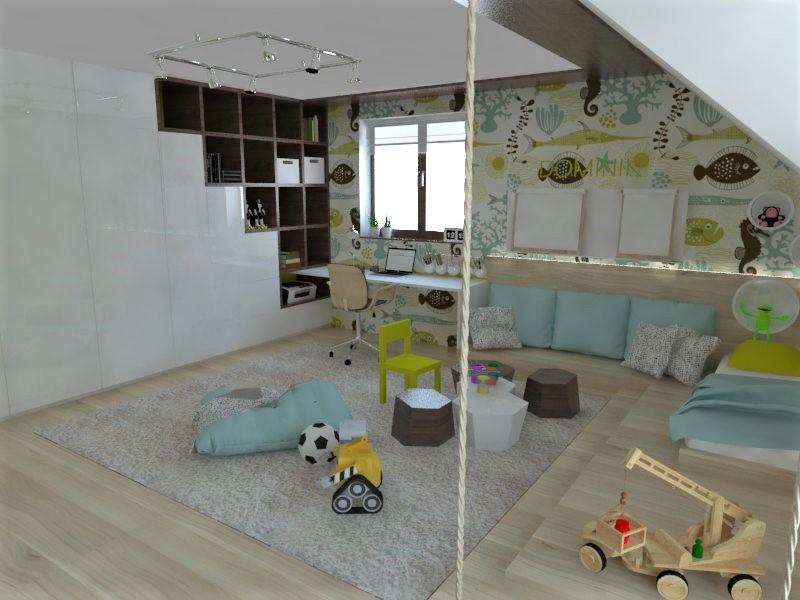 Detské a študentské izby- vizualizácie - Obrázok č. 129