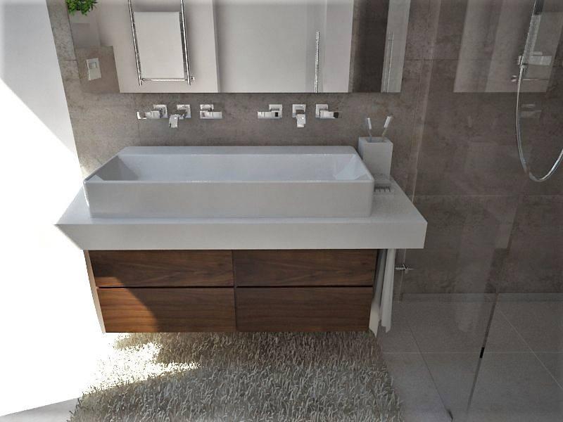 Kúpeľne- vizualizácie - návrh rodičovskej kúpeľne v novostavbe RD