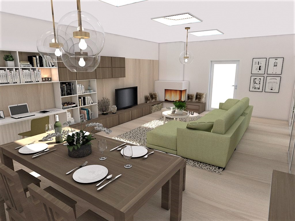 Kuchyňo- obývačky, vizualizácie - Obrázok č. 139