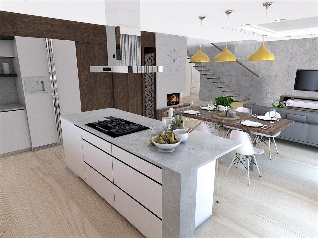 Kuchyňo- obývačky, vizualizácie - Obrázok č. 155