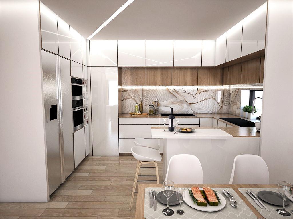 Kuchyňo- obývačky, vizualizácie - Obrázok č. 3