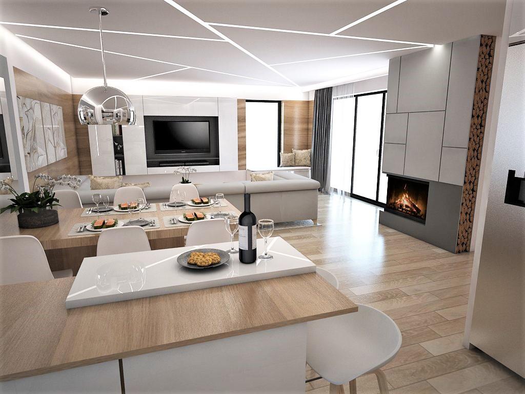 Kuchyňo- obývačky, vizualizácie - Obrázok č. 5