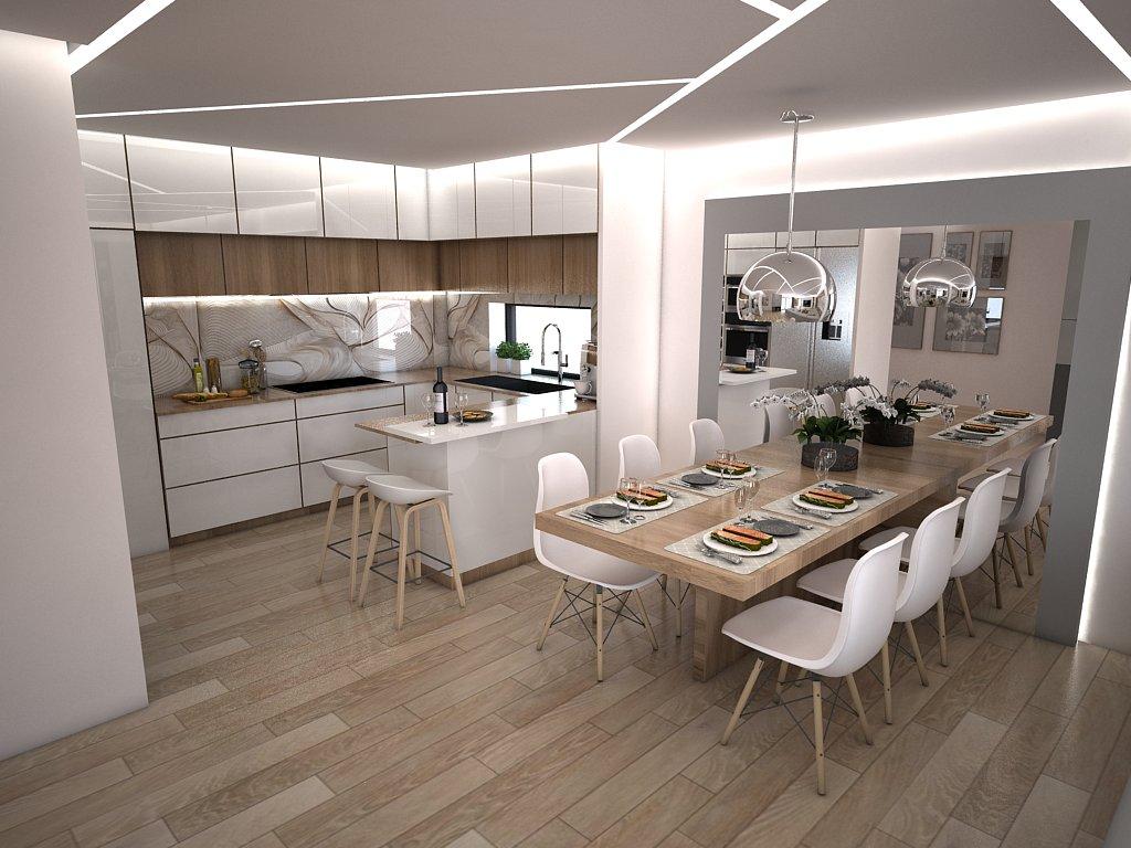 Kuchyňo- obývačky, vizualizácie - Obrázok č. 1
