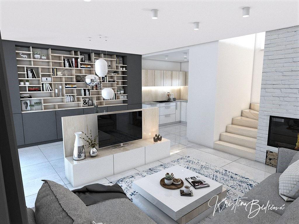 Kuchyňo- obývačky, vizualizácie - Obrázok č. 351