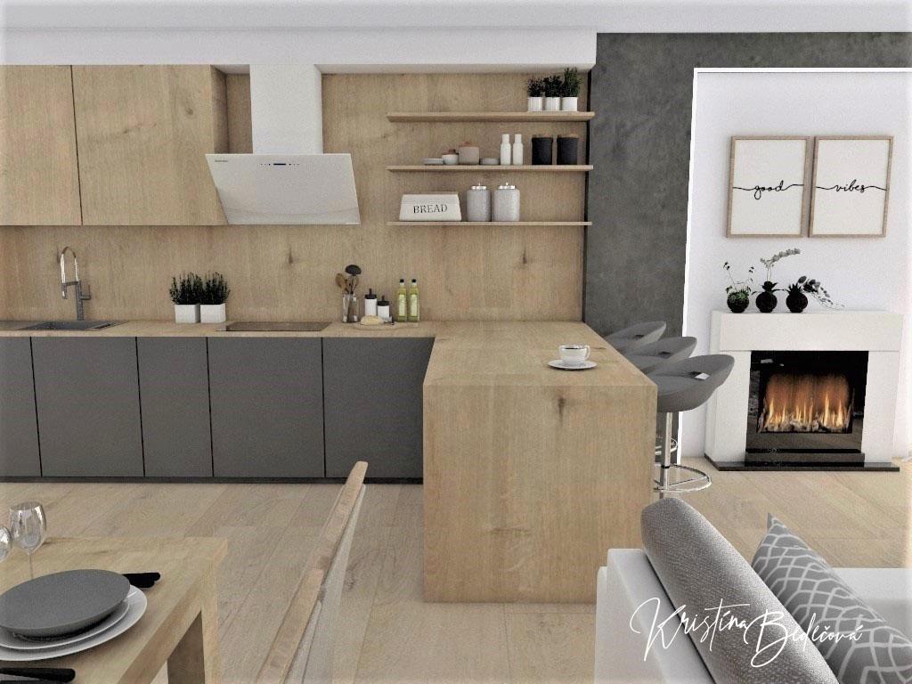 Kuchyňo- obývačky, vizualizácie - Obrázok č. 409