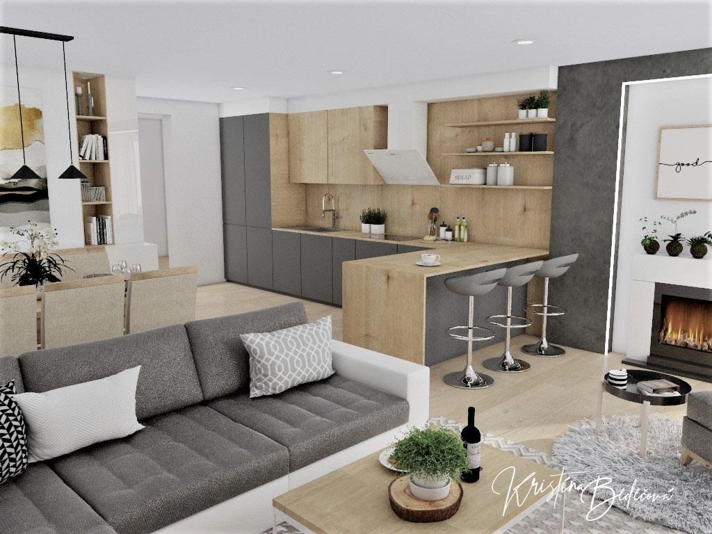 Kuchyňo- obývačky, vizualizácie - Obrázok č. 411