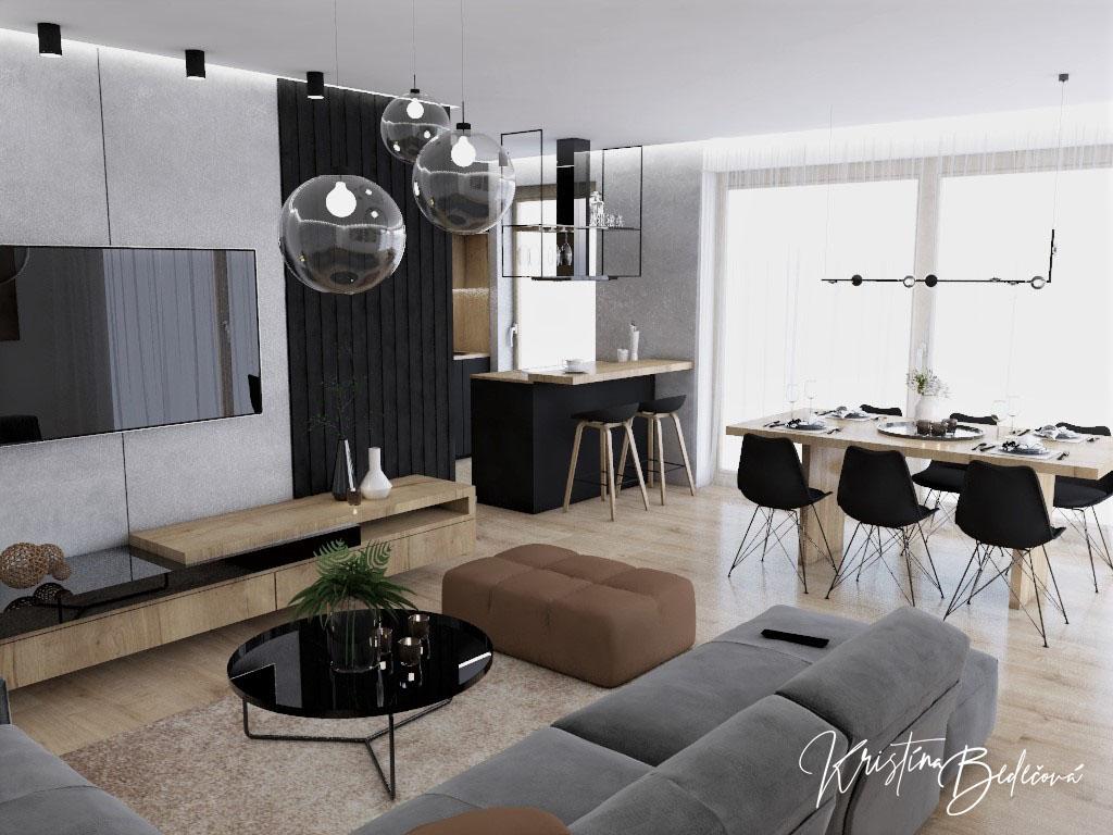 Kuchyňo- obývačky, vizualizácie - Obrázok č. 528